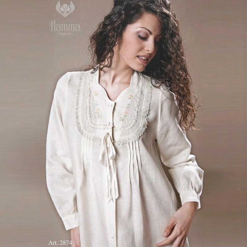 vendita più calda qualità e quantità assicurate corrispondenza di colore Camicia da notte donna FIAMMA aperta 2874