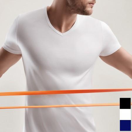 T-Shirt scollo a V...