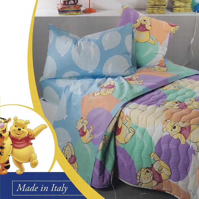 Trapuntino Una Piazza E Mezza Pooh Palloncini Caleffi Disney